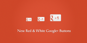 New Red and White Google Plus Icons (PNG) by suraj78