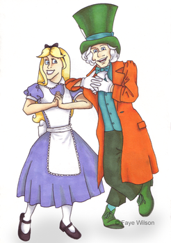 Alice and the Mad Hatter by Violet--Gypsy