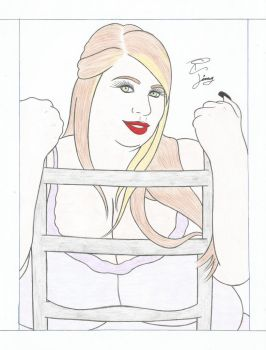 Ms Dawn P cleavage by BBWDrawer