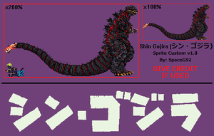 Shin Gojira v1.3 - Custom Sprite by SpaceG92