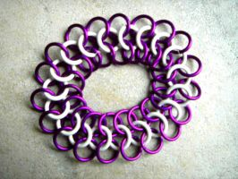 european chain mail bracelet by littlemissysg