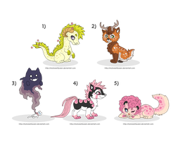 [Sold] Adoptables: Fantasy Creatures II by MySweetQueen