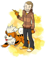 Jonas e seu Growlithe by Kaboio