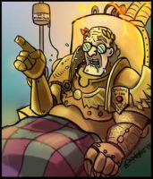 The Old Emperor tells a story by Lukos-PNP