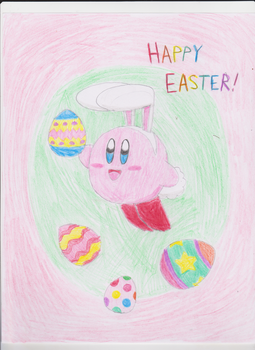 Happy Easter from Bunny Kirby! by KawaiiWonder