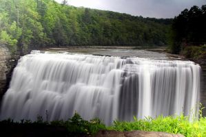 Middle Falls,Letchworth State Park. by sweatangel