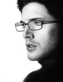 Jensen Ackles in Glasses by maichan-art