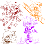Stream Request sketches by Chobits13