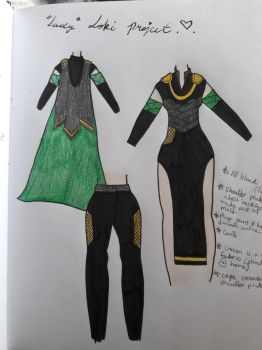 Lady Loki Cosplay UPDATE by Bella-Sophie817