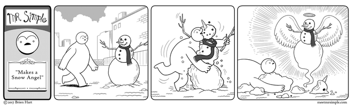 Mr. Simple Makes a Snow Angel by brien-likes-cartoons