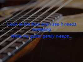 While My Guitar Gently Weeps Graphic by sasukeissohot97