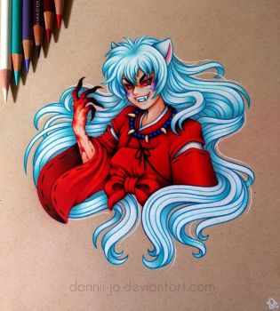 Demon InuYasha - Commission by dannii-jo