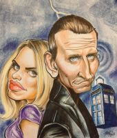 Dr. Who no. 9 and Rose Tyler by darknight06