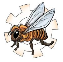 Bee and Gear by ursulav