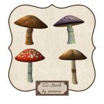 3D Wonderland Shrooms by zememz
