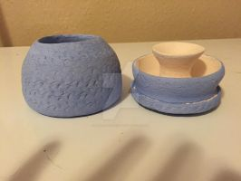 Little blue pot with lid 1 by AllRealStacia