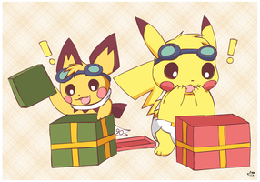 Don't open your gifts yet! by pichu90
