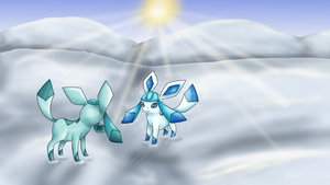Snowy Glaceon by Cinnamon-Quails