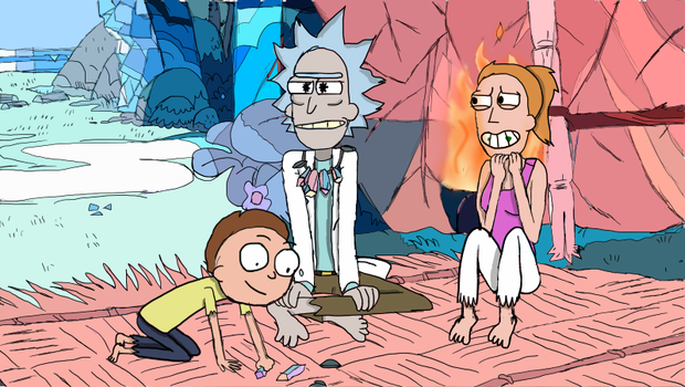 Rick, Morty and Summer by Lpspawesome