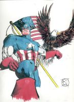 Captain America colored by GothicPhobia