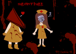 Silent Hill - Pyramid Head and Bubblehead Nurse by Sasi-in-Wonderland