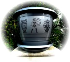 Flower pot ancient Greece motif by naraosart