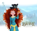 Merida and lil' Bear - 03 by Nippy13
