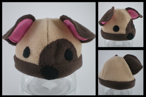 Fleece baby hat - Dog by eitanya