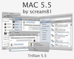 MAC 5.5 Skin for Trillian by Scream81