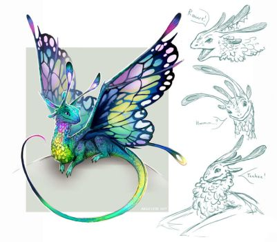 Faerie dragon by Angevere
