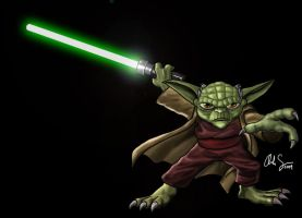 Yoda Star Wars Clone Wars by osx-mkx