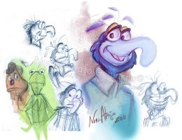 The muppet sketches by Iluvendure