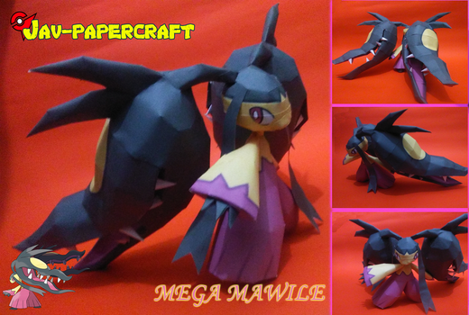 mega mawile papercraft (download) by ZygardeXYZ