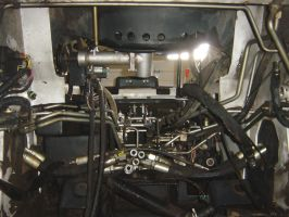 Inside of an Old Bobcat Engine by FantasyStock