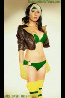 Bikini Rogue - X-Men Pin-Up by ConstantineInTokyo
