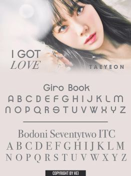 TAEYEON I GOT LOVE FONT by hyukhee05