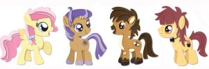 Four Foal Friends :: Commission for VanilleCream by HiMyNameIsNickel
