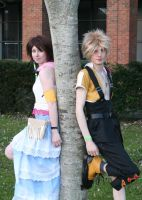 Tidus and Yuna- by SwordofNyx