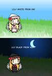 (Walfas) Lily White from day Lily Black from night by daigospencer