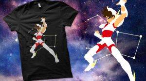Pegasus Seiya Qwertee by ClockworkHeartComple