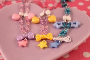 Simply Darling Necklaces by PeppermintPuff