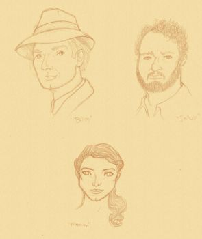 Indiana Jones sketches by d-fly