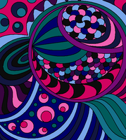 Abstract Lineart 4-color by drachenlilly