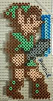 Link - The Legend of Zelda II by PerlerPixie