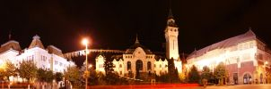 Tg-Mures night panorama by fulmination