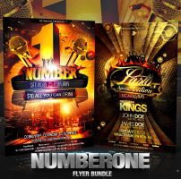 PSD Numberone Flyer Bundle - 2in1 by retinathemes