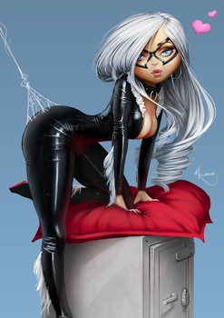 Black Cat Pinup by SourAcid
