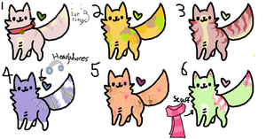 Adoptable Cats (Closed) by LittleOrca20