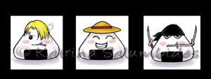 One Piece Onigiri Set 1 by TerraForever