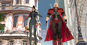 Bayonetta and Dante: Time to work by Hatredboy